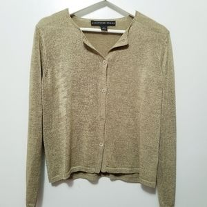 JOSEPHINE CHAUS Gold Long sleeves Cardigans -A13